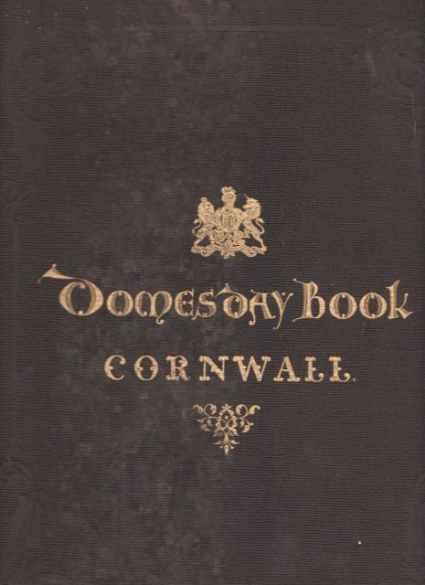 Domesday Book Cornwall Colonel Sir H James
