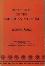 In the Days of the American Museum