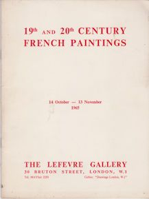 19th and 20th Century French Paintings  not stated